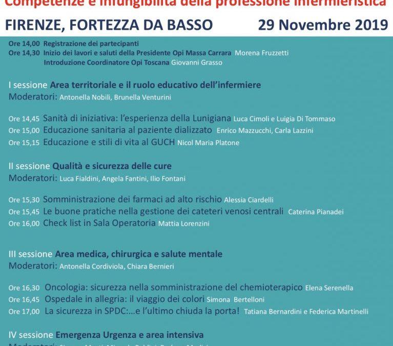 Competenze e infungibilità della professione infermieristica. Opi Massa Carrara presente al 14° Forum Risk Management