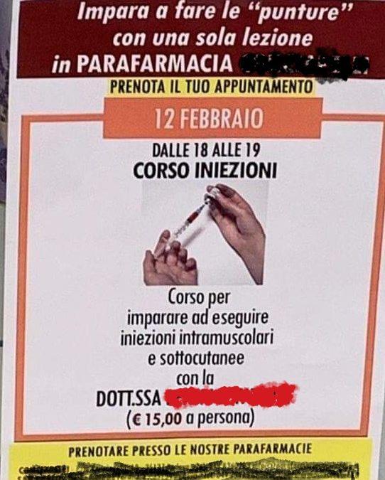 """Impara a fare le """"punture"""" con una sola lezione in Parafarmacia. Interviene l'OPI di Padova"""