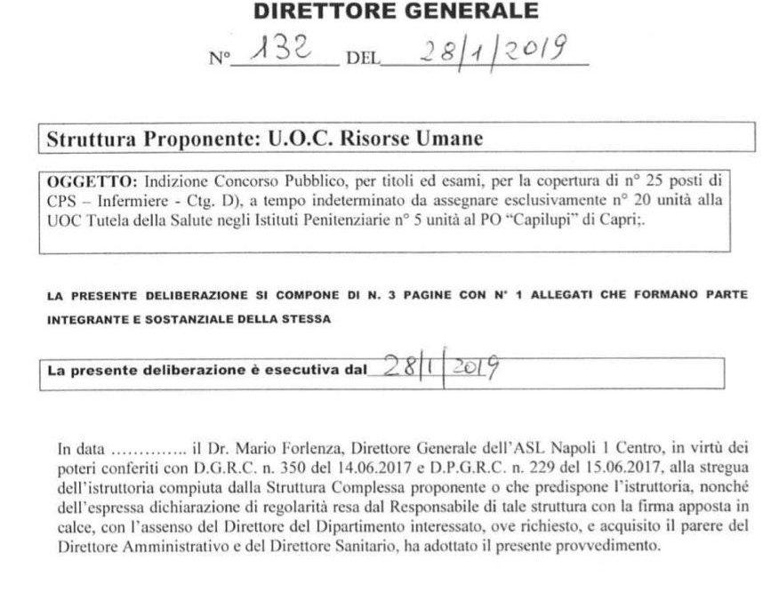 ASL Napoli 1 Centro: concorso pubblico per 25 infermieri