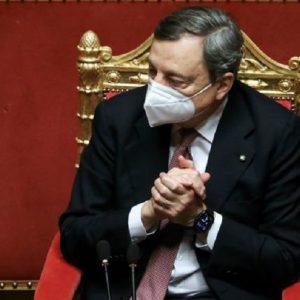 """Campagna vaccinale, Draghi: """"In Italia procede più spedita rispetto alla media europea"""""""