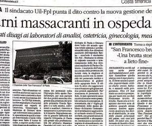 """I misteri della sanità in Calabria: infermieri smontanti dalla notte """"costretti"""" a coprire anche il turno di mattina"""