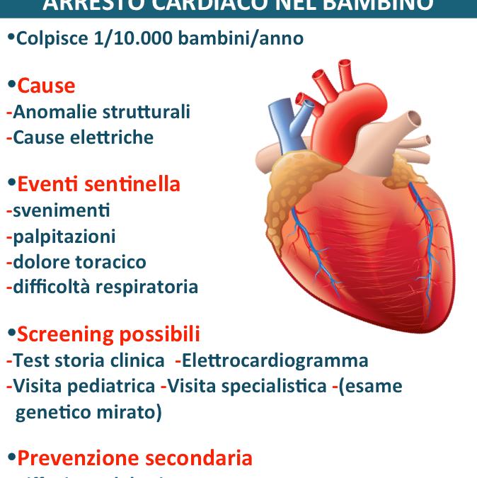 L'arresto cardiaco nel bambino: cause, segni e sintomi, prevenzione