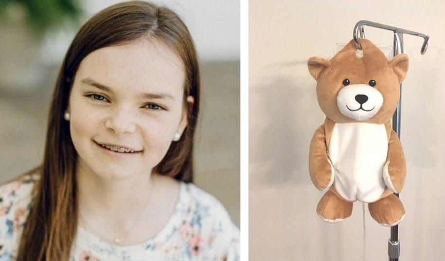 Dodicenne realizza Medi Teddy, la sacca portaflebo a forma di peluche per ridurre la paura nei bimbi ricoverati