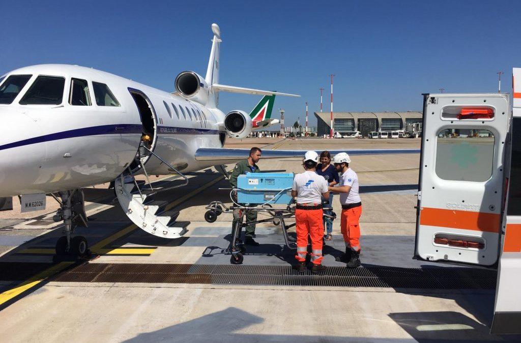 Aeronautica Militare: neonato in imminente pericolo di vita trasportato dalla Sardegna al Bambin Gesù