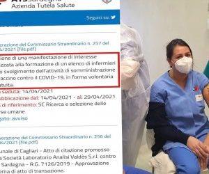 Nursing Up: L'Ats Sardegna cerca infermieri per vaccinare a titolo gratuito